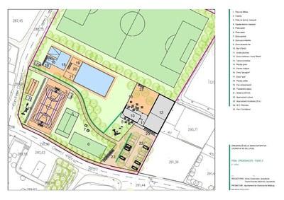 Projecte de la nova ordenació de la zona esportiva