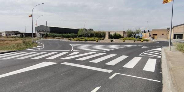 Finalitza l'arranjament del paviment en diversos carrers