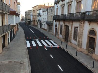 Vilanova de Bellpuig estrena arranjament de la carretera interior del municipi