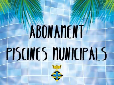 Abonament piscines municipals